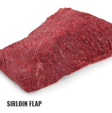 Raw sirloin flap